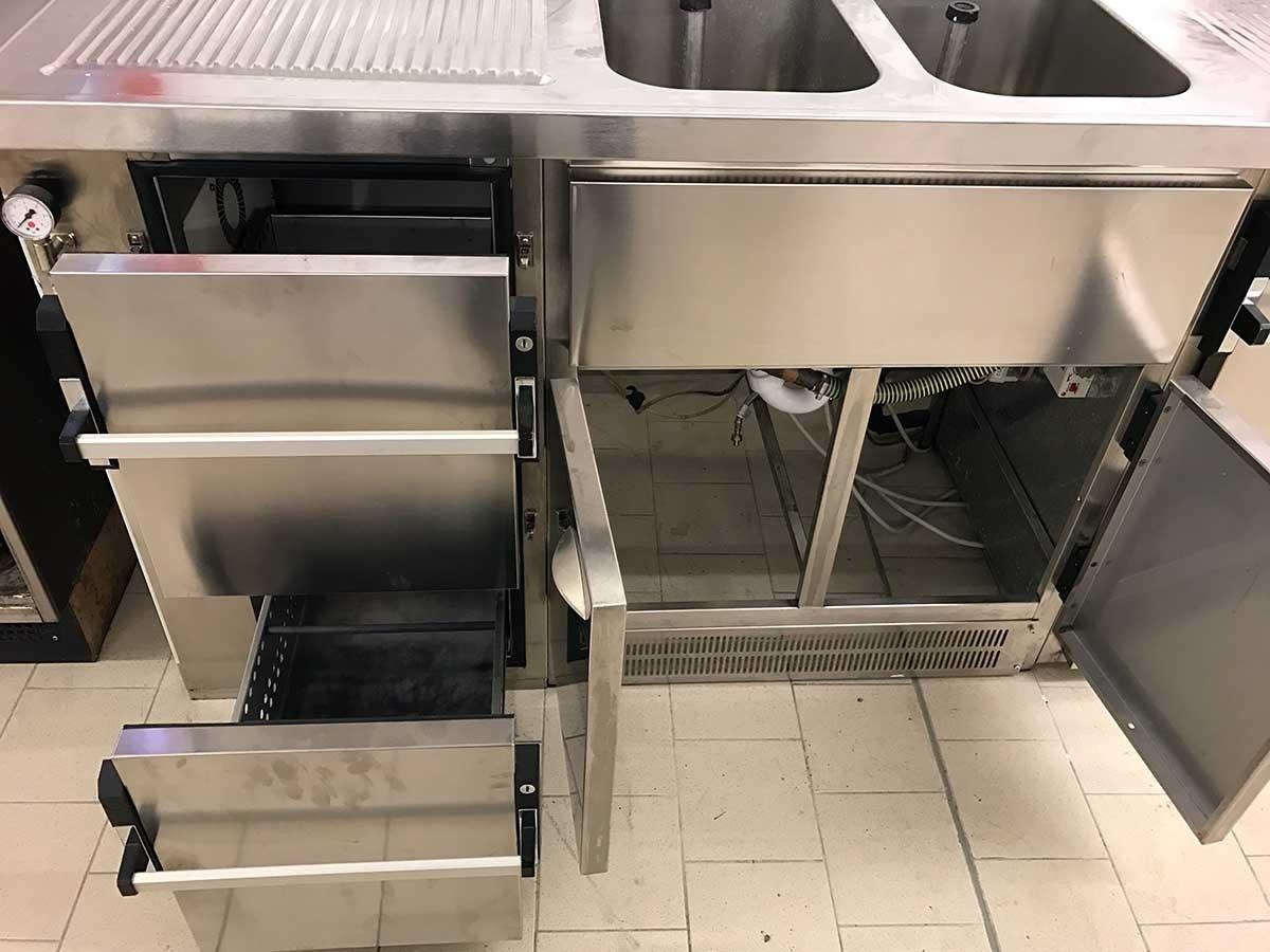 biertresen biertheke kühltisch mit zapfhahn spülbecken l310 ~ Spülbecken Liter