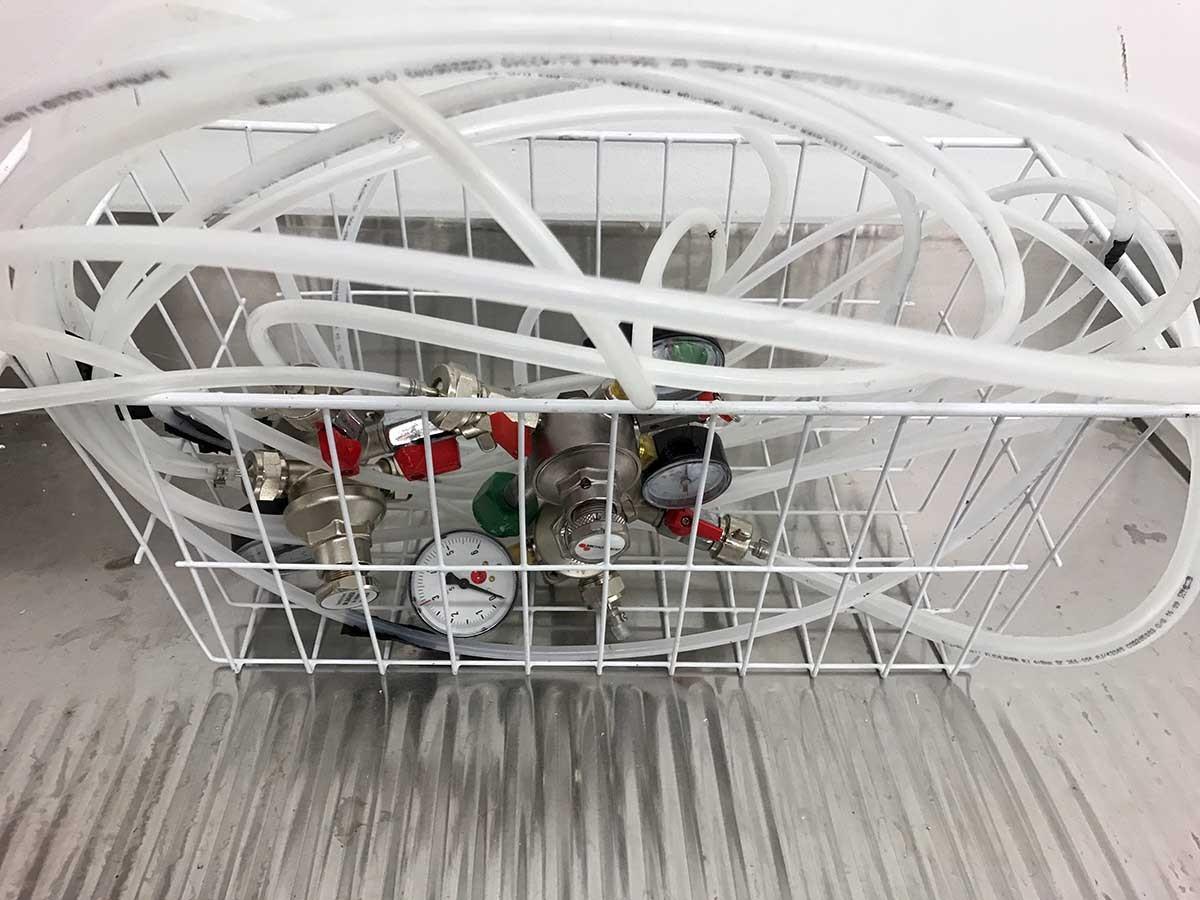 Spülbecken Liter = biertresen biertheke kühltisch mit zapfhahn spülbecken l310