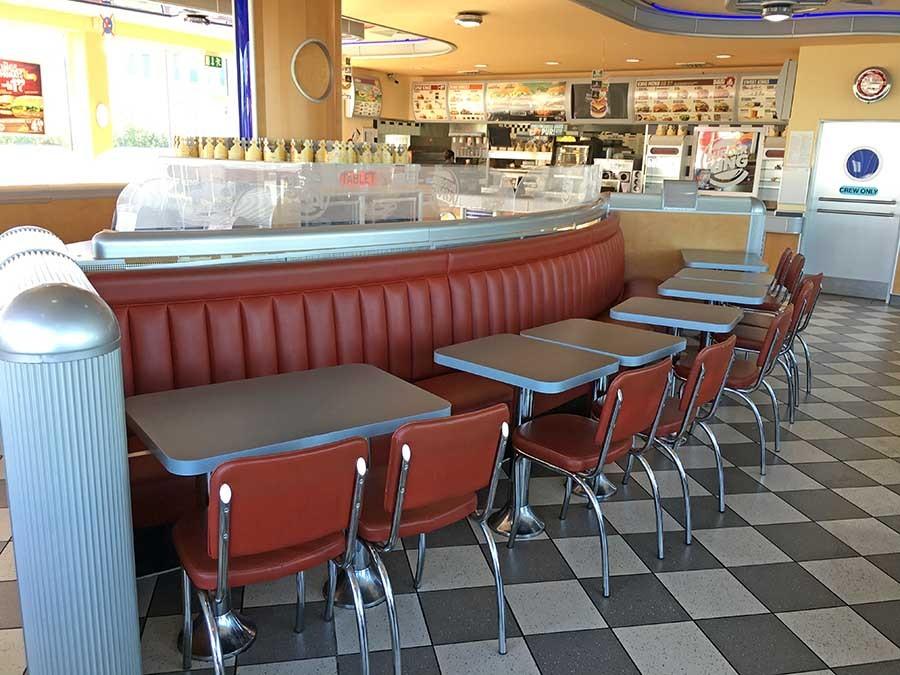American Diner Einrichtung mit nett stil für ihr wohnideen