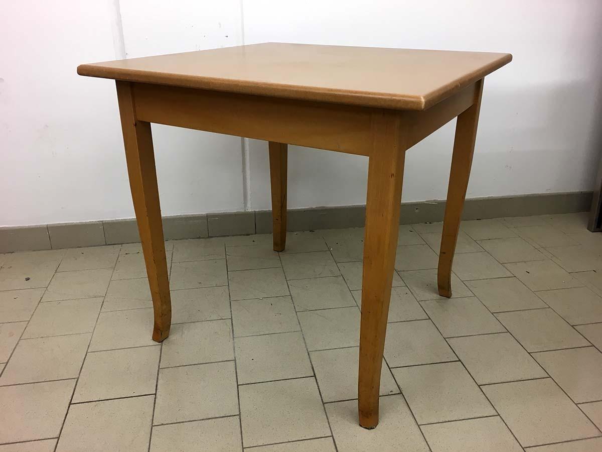 Gastro Tische 7 Stück 80x80cm Buche hell