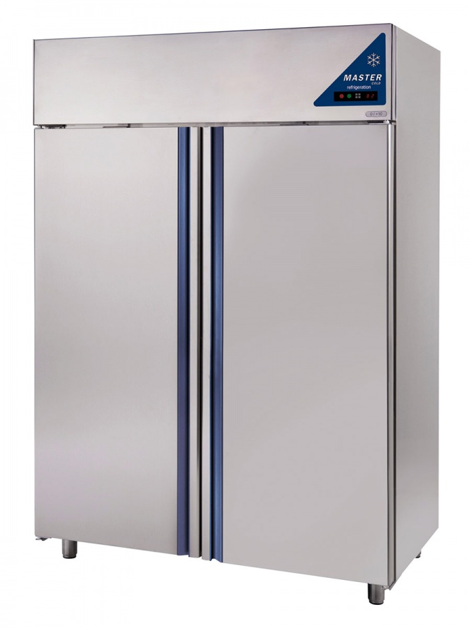 Edelstahl Kühlschrank ECC 1400 TN zweitürig Umluft 1400 Lit