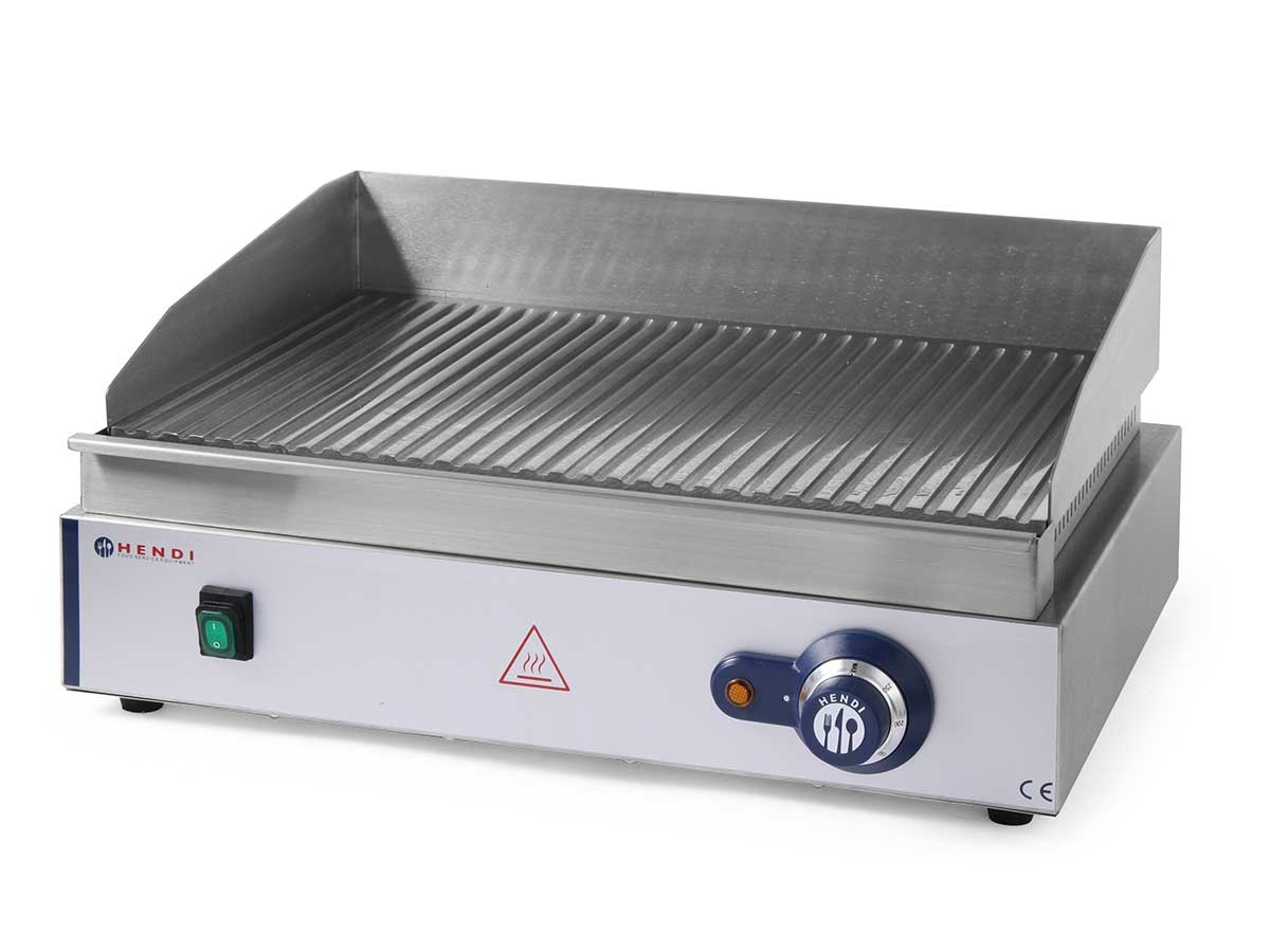 Hendi grillplatte blue line edelstahl 230v for Grillplatte edelstahl