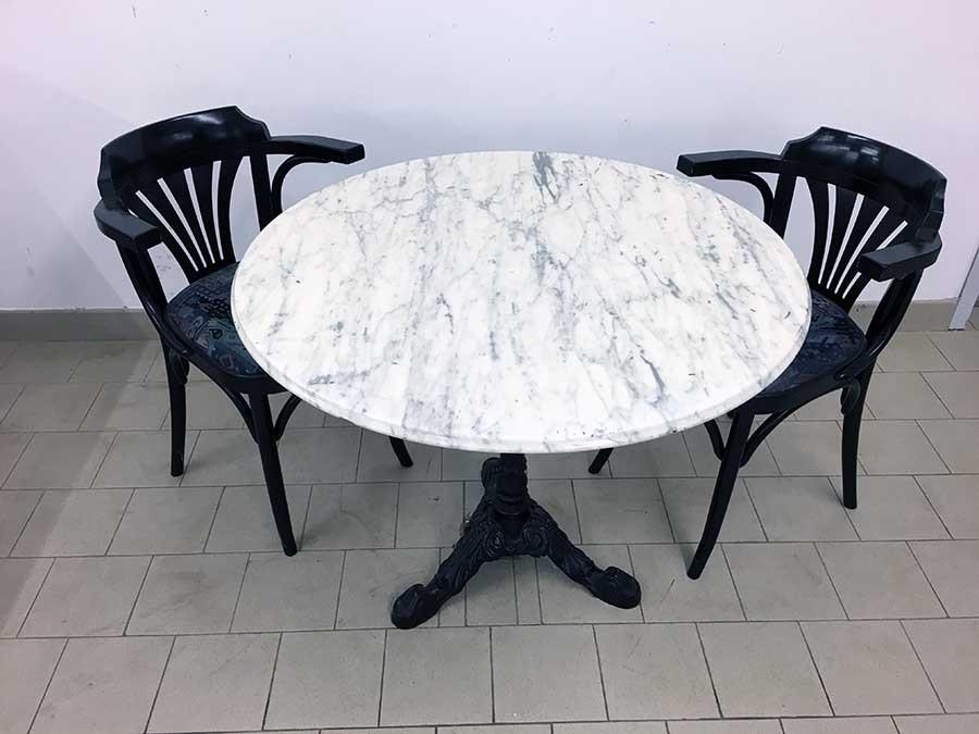Sit t8290 gastro tische mit marmorplatte carrara 90 for Gastro tische