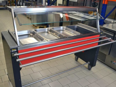 Rieber Rollito Bain Marie 4 GN 1/1-210 universelles Buffetsystem