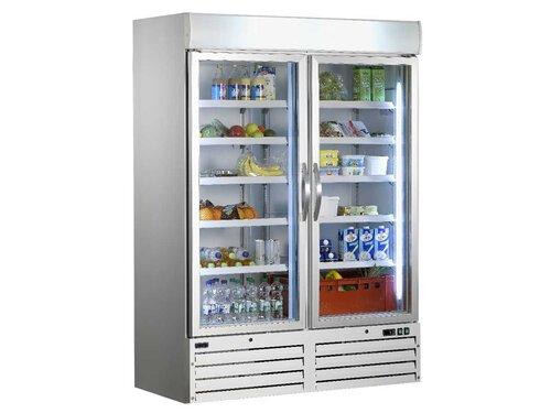 Kühlschrank Gastro : Gastro kühlschrank mit glastüren liter umluft x