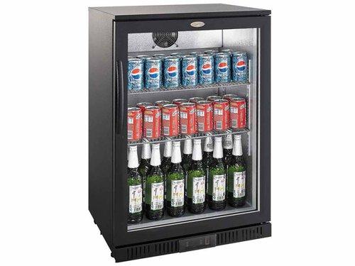 Kühlschrank Glastür : Flaschenkühlschrank schwarz glastür 138 liter 600 x 520 x 900 mm